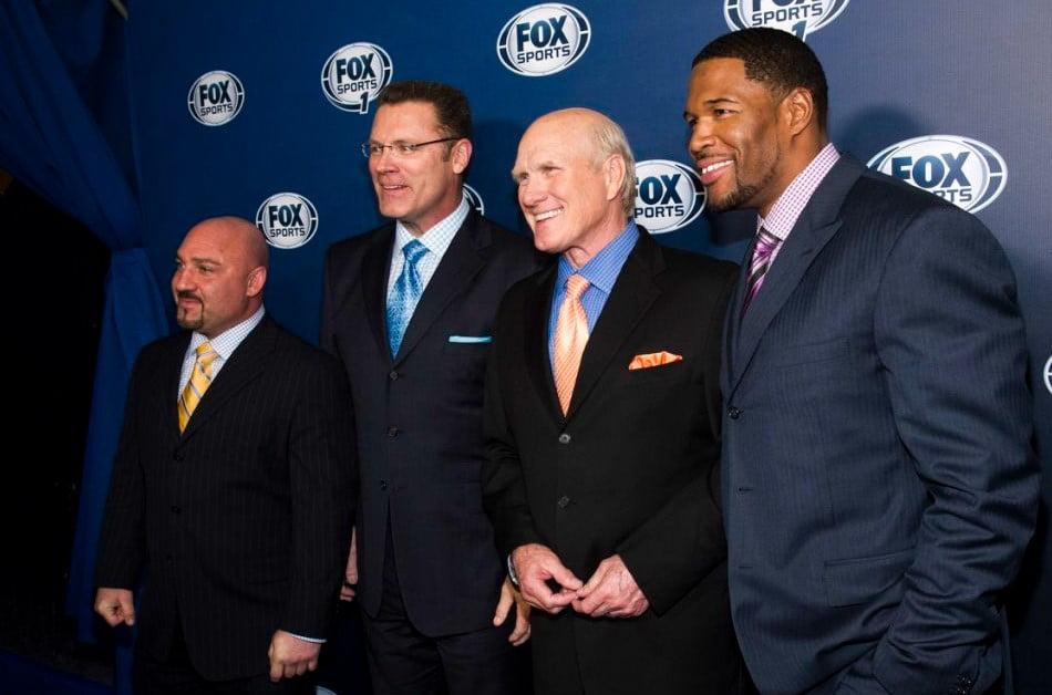 Glazer with other Fox NFL crew members