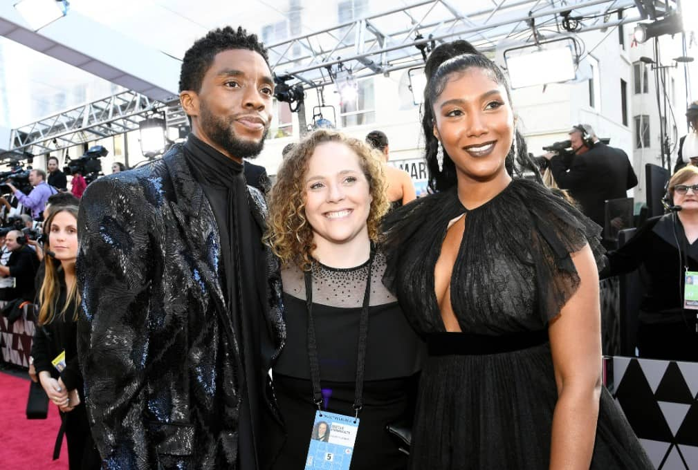 Chadwick Boseman and Simone Ledward first photo