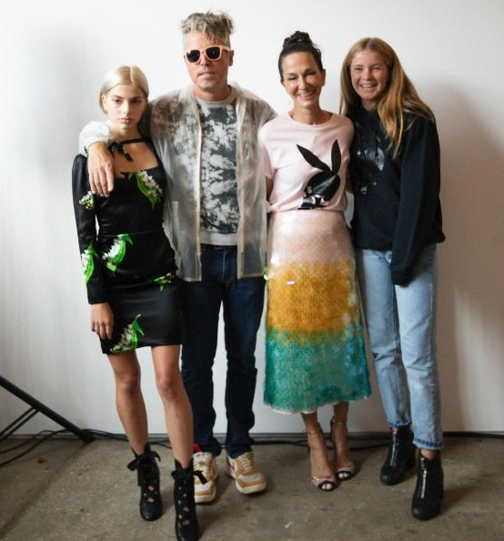 Cynthia Rowley family photo with daughter Gigi Clementine Powers, Kit Keenan and Bill Powers