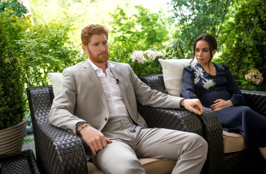 Prince Harry and Meghan Markle in Escaping the Palace movie